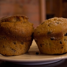 Chocolate Chip and Apple Cinnamon Muffins.